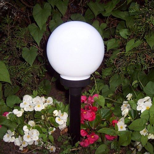 SMD LED Solar-Kugelleuchte 15 x 48,5 / 32cm Solarlampe 11529