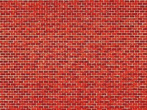 Auhagen 50.104,0 - Papel Decorativo de Pared de ladrillo Rojo, 220 x 100 mm, Colorido