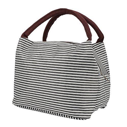 Lunch Taschen Lunchtasche Kühltasche Lunch Tasche Thermotasche Isoliertasche Mittagessen Tasche für Kinder,Mädchen,Frauen (Schwarz) (Thermos Lunch Bag Schwarz)