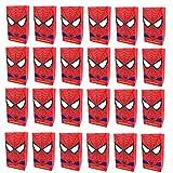 KRUCE Confezione da 24 Spiderman Borse da Festa Borse per Bambini a Tema Supereroi per Bambini