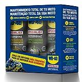 WD-40 Specialist Motorbike 34553 Tripack Mantenimiento Total para Moto Óptimo para Ambientes de alta Humedad