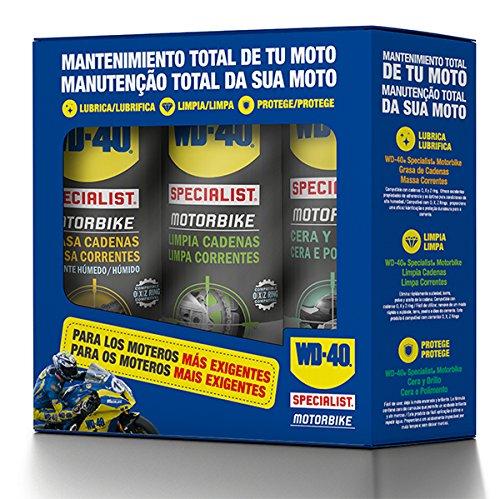 WD-40 Specialist Motorbike - Tripack mantenimiento total de la moto en ambiente...
