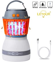 [Upgraded] Mosquito Zapper Outdoor Lantern LETOUR 4 Modes Dimmable Portable Light Quiet Efficient Mosquito Killer Washable Wa