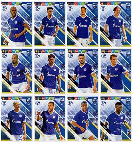PANINI ADRENALYN XL FIFA 365 2019 – Twelve (12) FC Schalke 04 Team Mate Base Cards