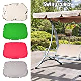 cineman Swing Top Cover, Swing Canopy Cover Impermeable Anti-UV Swing Top Protectora Canopy Repuesto para Exterior Porche Patio Swing, para Jardín Patio Patio Parque Porche Asiento Muebles