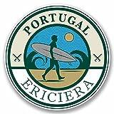 2 x 20cm/200 mm Ericiera Portugal Autocollant de fenêtre en verre Voiture Van Locations #9783