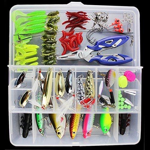Set de 101 unidades de anzuelos de pesca OriGlam, set...