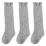 HAPPY CHERRY Baby Kleinkind Kniestrümpfe Baumwolle Lange Knie Socken süße Kindersocken Stulpen 1-3 Jahren