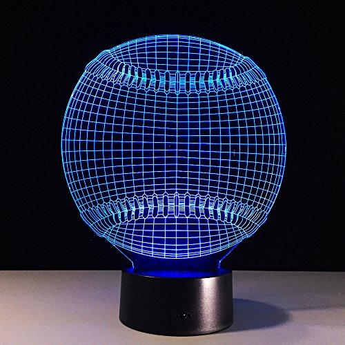 3D Nachtlicht Optische Illusion Lampara Baseball Light Hat Sport 7 Farbwechsel Nacht Touch SchreibtischTischlampeKind Kind Schlaf Geschenk Lxkem