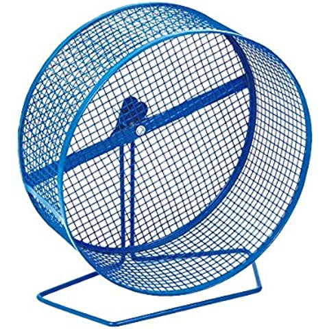 Ruota per criceti Nobleza, telaio con fili in acciaio blu, diametro 27,94 cm