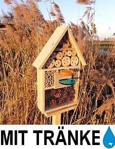 Insectes h tel avec abreuvoir sd et mangeoire mangeoire neuf nichoir en bois nature coccinelle - Hotel a insectes nature et decouverte ...