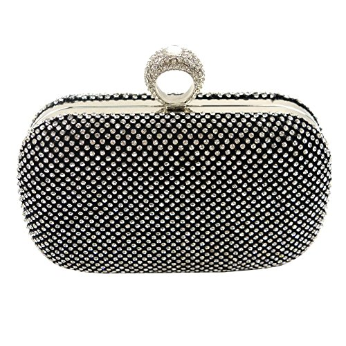 Yingzu , Damen Clutch silver, black, gold Small, - schwarz - Größe: Small (Satchel Guess-handtaschen-top-zip)
