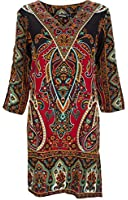 ladies kaftan kimono tunic tribal beach cover dress 10 12 14 16 18