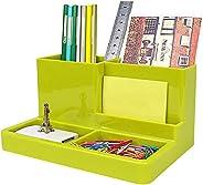 QSN Plastic Pen Pencil Holders Desktop Storage Box Organizer Multifunctional Office Accessories