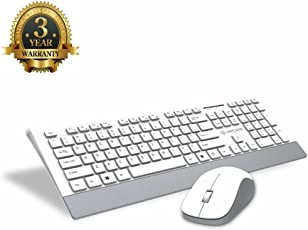 Cable World Lapcare Smartoo L999 Wireless Keyboard Mouse Combo - (White with Silver)