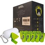 Amazon Brand – Umi Sacchetti Igienici Biodegradabili per Escrementi Cane - Origine Vegetale, Compostabili a Casa, Privi di Mi