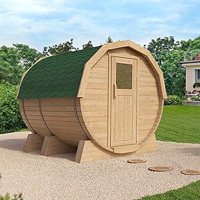 ISIDOR Fasssauna K3 Deluxe 3,12m,mit HARVIA BC90 und externer Steuerung,Espe-Saunaholz bei allen Innensitzbänken von ISIDOR Holzbau auf Du und dein Garten