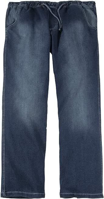 Abraxas XXL Pantaloni jeans con elastico in vita lavastoviglie in pietra