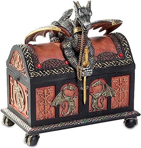 Boîte à bijoux gothique figurine Dragon