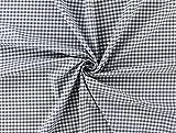 Baumwollstoff 5 mm Karo grau, Meterware ab 0,5 m / 100%