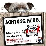 Hunde-Warnschild Schutz vor Düsseldorf-Fans | FC Köln, Bayer 04 Leverkusen & alle Fußball-Fans, Dieser Revier-Markierer schützt Haus & Hof vor Fortuna-Fans | Achtung Vorsicht Hund Bissig