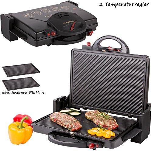 First austria fa 5330 grill elettrico da tavolo, 2000 watt