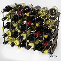 (6x4) Classic 30 bottiglia in rovere scuro e tinto galvanizzato