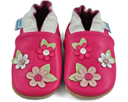 Juicy Bumbles Chaussures Bébé - Chaussons Bébé - Chaussons Cuir Souple - Chaussures Cuir Souple Premiers Pas - Bébé Fille Cha
