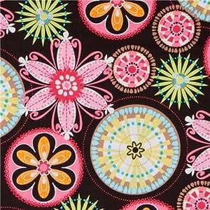 Michael Miller tissu Carnaval Bloom fleurs colorées (vendus par multiples de 0,5 mètres)