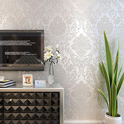 Carta da parati europeo retro adesivo-legato panno lavaggio parete più spessa lusso 3D Stereo Camera da letto salotto verde , 1301 meters