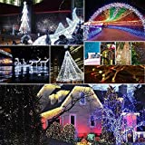 AIZESI 200 LED String Lights Fairy Twinkle Decorative Outdoor Lights 65 Feet with Multi Flashing Modes Controller for Kid's Bedroom, Wedding, Chirstmas Tree, Festival Party, Garden, Patio (Purple)