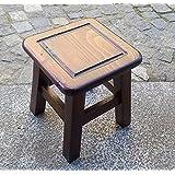 Ordine Personalizzato! Sgabello in legno a forma quadrata color Ciliegio