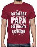 Green Turtle T-Shirts Super Enfants = Super Papa Cadeau de Fête des Pères T-Shirt Homme