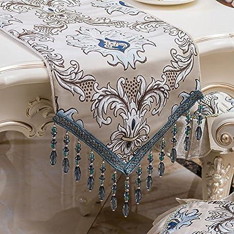 Europäisches Tuch Rutschfester Tischtuch,Couchtisch Tuch Bett Flagge,Moderne Minimalistische Mode-B 50x50cm(20x20inch)