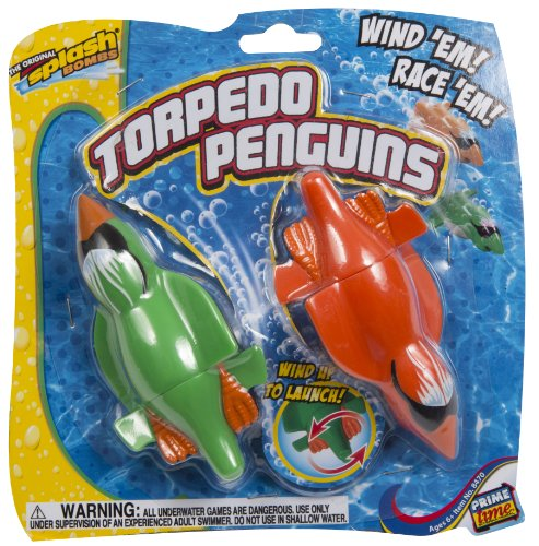 Diving Master Torpedo Penguins Wind-Up Kids Pool Toy from Prime Time Toys