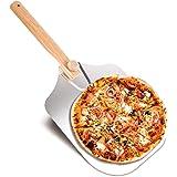 EKKONG Pelle à Pizza, Pelle à Pizza Planche à Pizza Aluminium, Pelle Pizza Long Manche en Bois, Pelle Grande Surface (60 * 30
