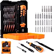 Jakemy JM-8160, Precision Screw Driver Set with Flexible Shaft and Socket, 33 in 1 Tools Kit