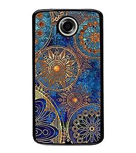 ifasho Designer Phone Back Case Cover Motorola Nexus 6 :: Motorola Nexus X :: Motorola Moto X Pro :: Google Nexus 6 ( Green Blue Pattern )