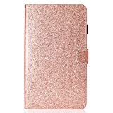HereMore Coque Samsung Galaxy Tab A6 7.0 SM-T280/T285, Etui Portefeuille Bling Strass...