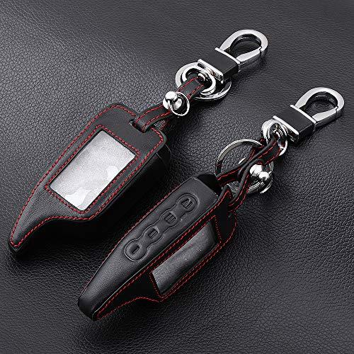 QCYSTBTG Leder Alarm Remote Keychain Fall, für Scher Khan, für Scher-Khan Magicar 5 6 M5 M6 Cover Holder (Remote Alarm Fall)