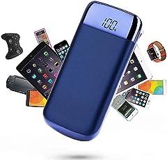 melysEU 20000mAh ultradünne bewegliche bewegliche Externe Ladegerät-Energie-Bank für Handy iPhone, Samsung, iPad, Android (02 Blau)