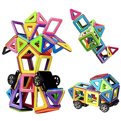 Bloc de Construction Magnétique | Mini Jeux Construction Aimanté 76 Pièces | Innoo Tech | Jouet et Cadeau Educatif et Instructif pour Enfants 3+ | Apprendre Les Formes et Les Couleurs en Jouant