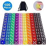 AUSTOR 100 Stück 6 Seitige Würfel Set Spielwürfel Bunt
