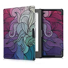 kwmobile Case Compatible with Kobo Aura Edition 1 - PU e-Reader Cover - Multicolor Dark Pink/Blue/Green