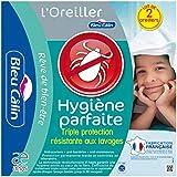 Bleu Câlin Lot de 2 Oreillers Hygiène Parfaite Anti-Acariens Blancs 45x70 cm OAEH