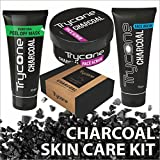 #6: TRYCONE CHARCOAL PEEL OFF MASK, CHARCOAL FACE WASH, CHARCOAL SCRUB AND CHARCOAL SOAP FOR MEN AND WOMEN (Activated Charcoal Skincare Combo Pack Of 4) CHARCOAL KIT FOR GIFT (Without Wooden Box)