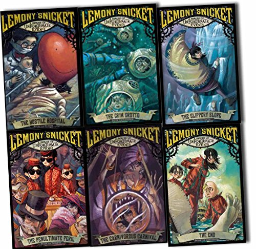 A Series of Unfortunate Events Collection 8 to 13 Books Set by Lemony Snicket