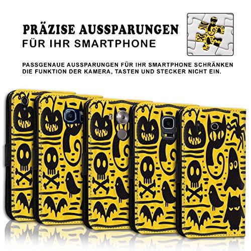 Wallet Book Style Flip Handy Tasche Case Schutz Hülle Schale Motiv Etui für Apple iPhone 5 / 5S - Variante UMV4 Design12 Design 10