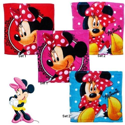 Disney Minnie Mouse Set di 2guanti da bagno asciugamano per bambini 30x 30cm, lavaggio macchia ospiti mano Tuch (Set 2)
