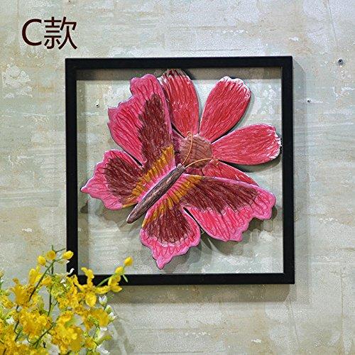 Lx.AZ.Kx Home decorazioni ferro appeso Butterfly parete decorazione pareti sono accessori per la casa C)